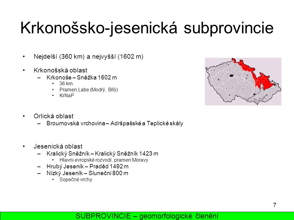 Krkonošsko-jesenická subprovincie
