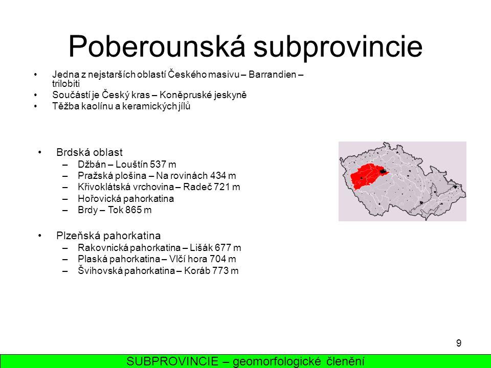 Poberounská subprovincie
