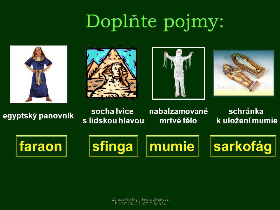 Zpracovala Mgr. Jindra Chejnová
