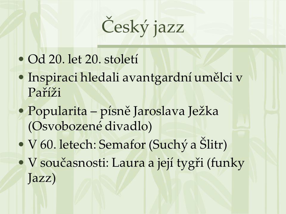 Český jazz Od 20. let 20. století