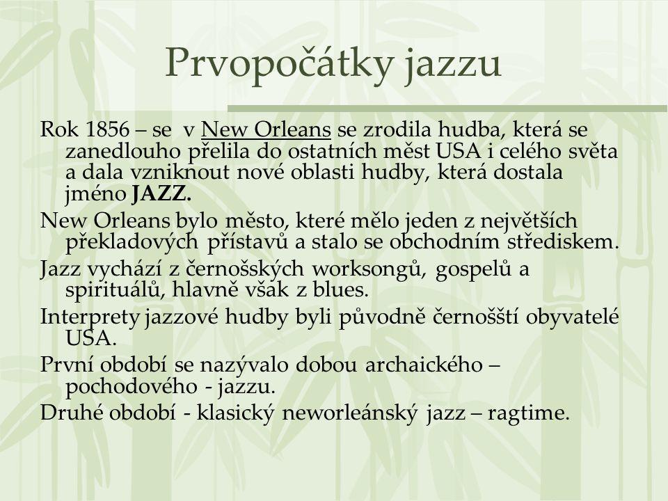 Prvopočátky jazzu