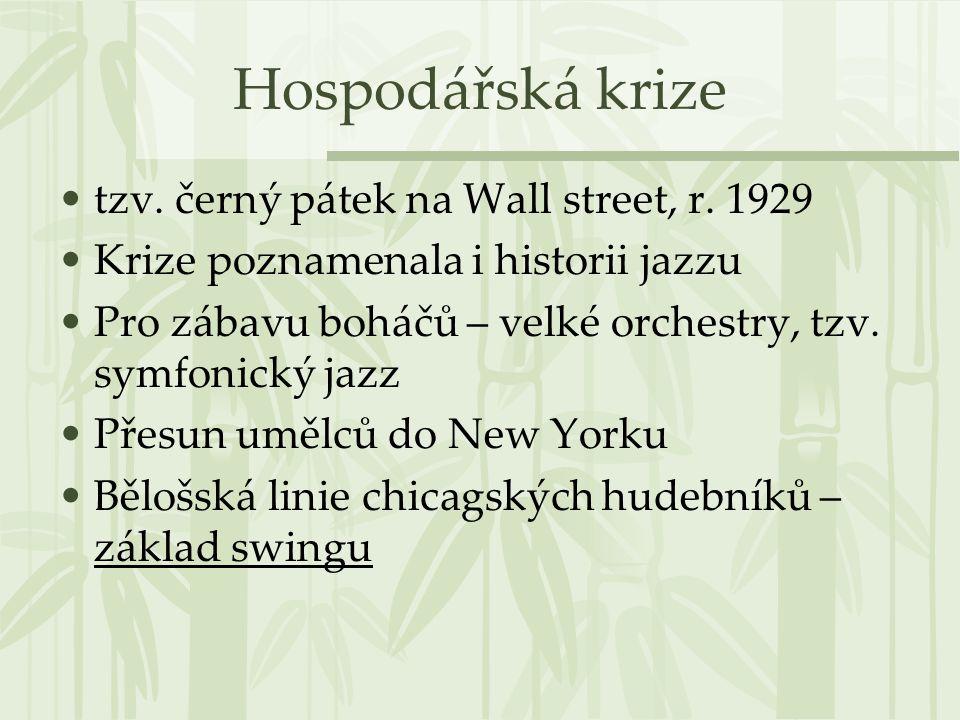 Hospodářská krize tzv. černý pátek na Wall street, r. 1929