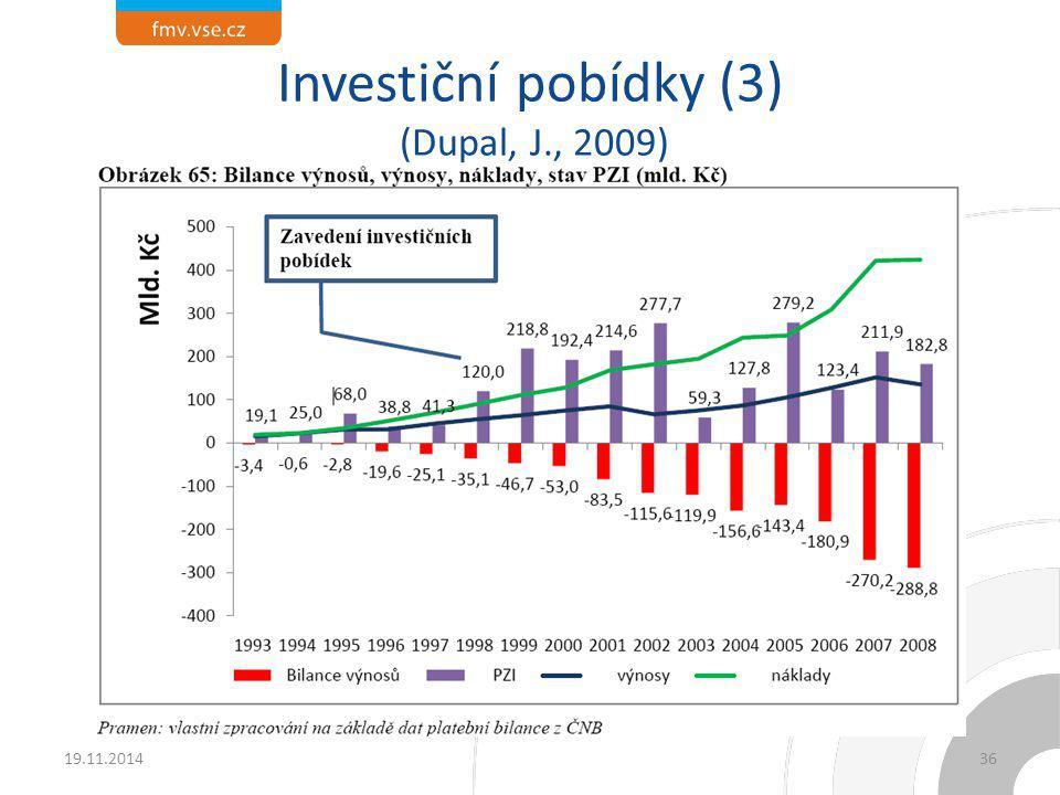Investiční pobídky (3) (Dupal, J., 2009)