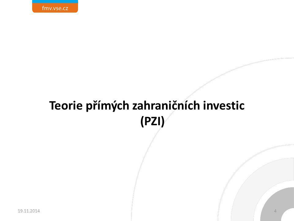 Teorie přímých zahraničních investic (PZI)