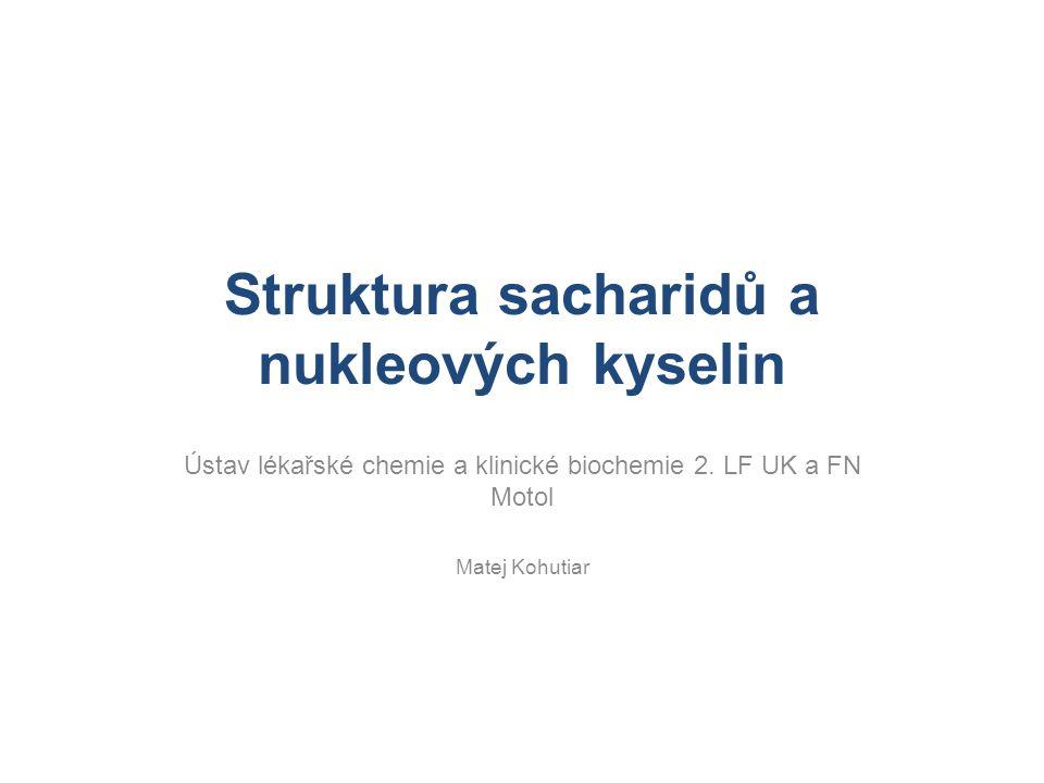 Struktura sacharidů a nukleových kyselin