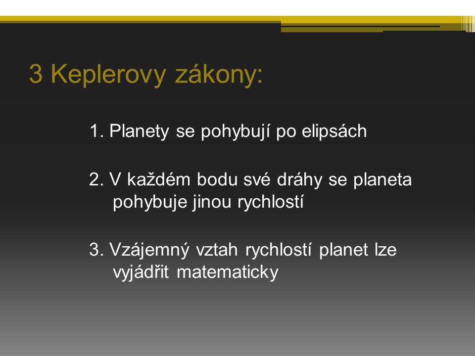 3 Keplerovy zákony: 1. Planety se pohybují po elipsách