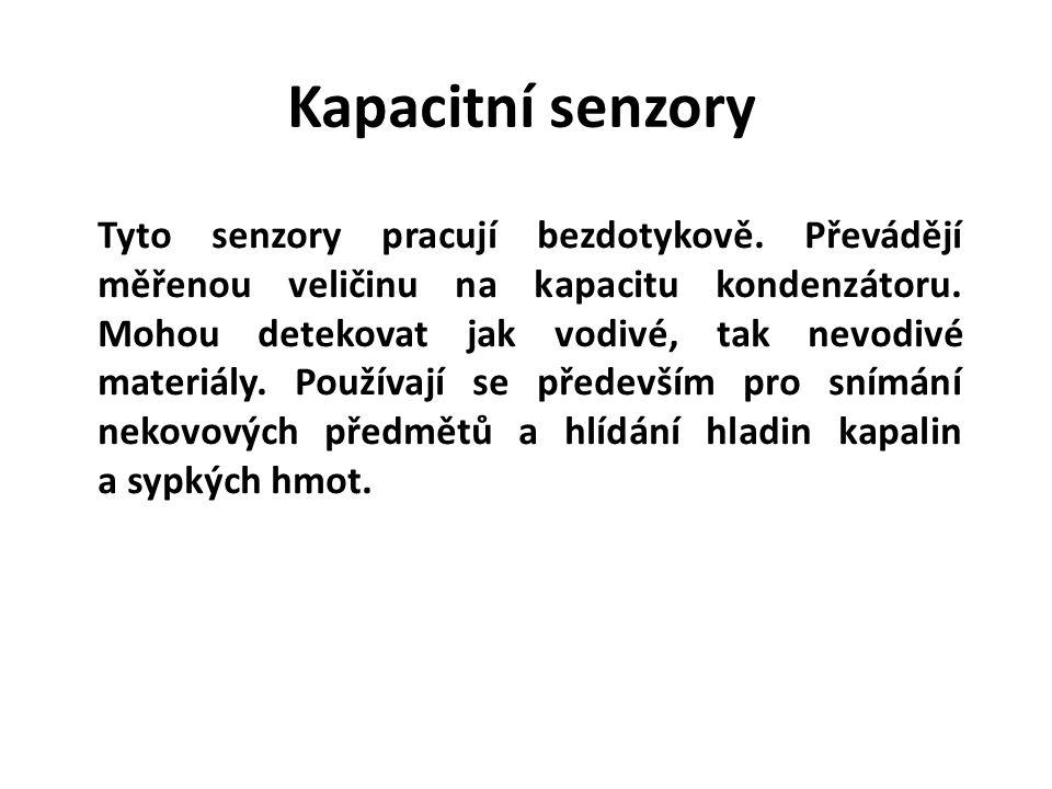 Kapacitní senzory