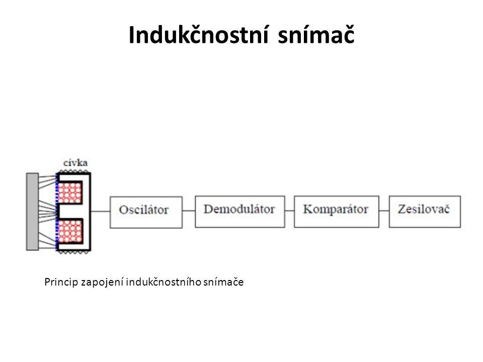 Indukčnostní snímač Princip zapojení indukčnostního snímače