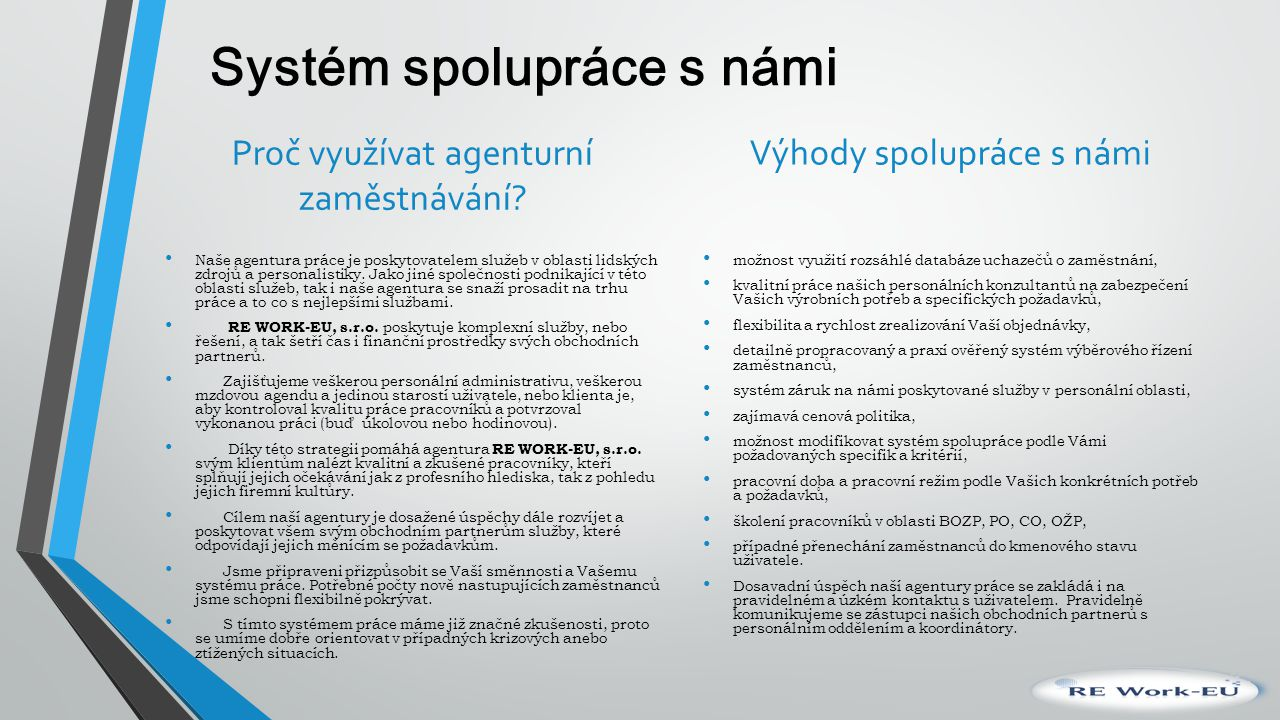 Systém spolupráce s námi