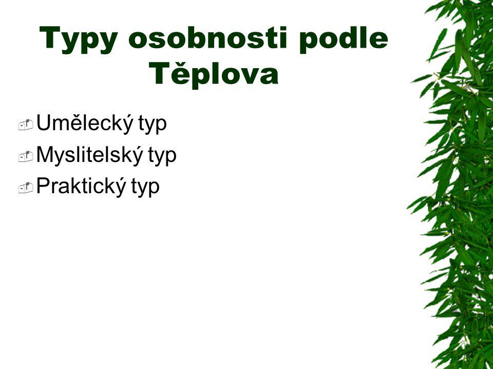 Typy osobnosti podle Těplova