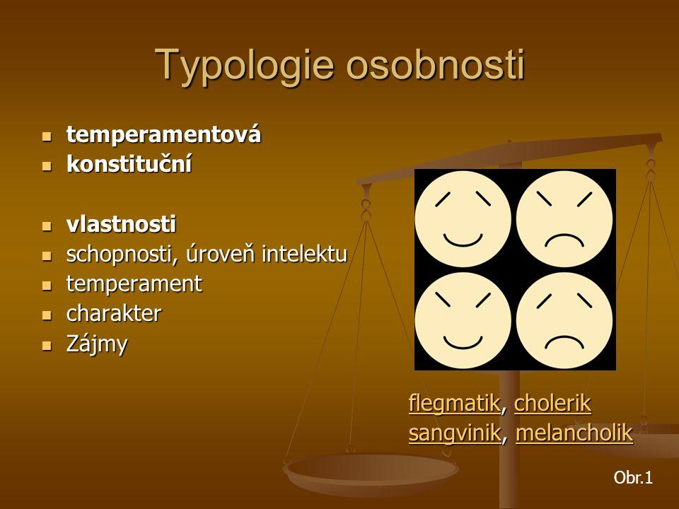 Typologie osobnosti temperamentová konstituční vlastnosti