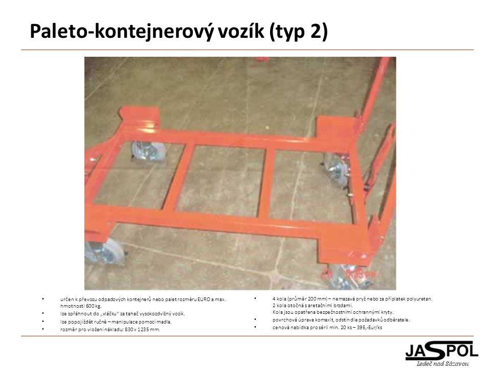 Paleto-kontejnerový vozík (typ 2)