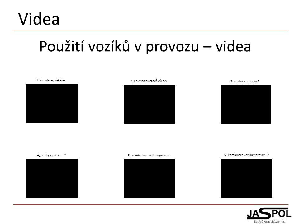 Videa Použití vozíků v provozu – videa 1_simulace překážek