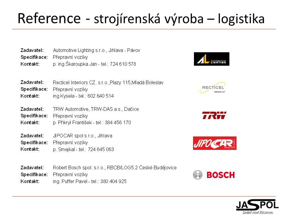 Reference - strojírenská výroba – logistika