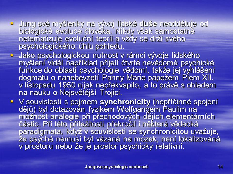 Jungova psychologie osobnosti