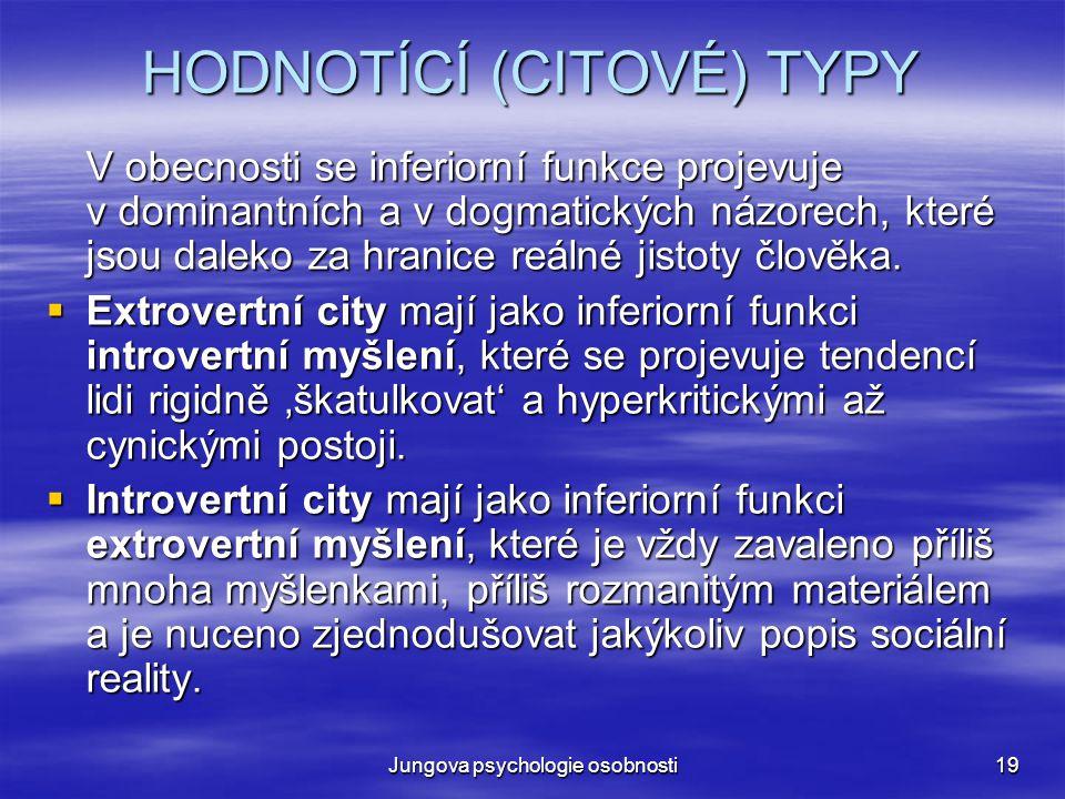 HODNOTÍCÍ (CITOVÉ) TYPY