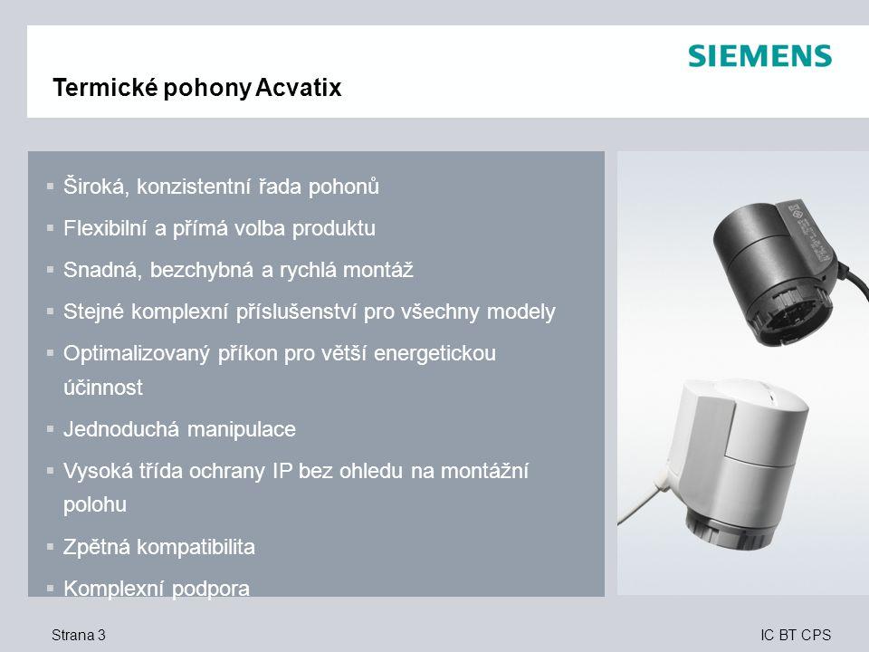 Termické pohony Acvatix