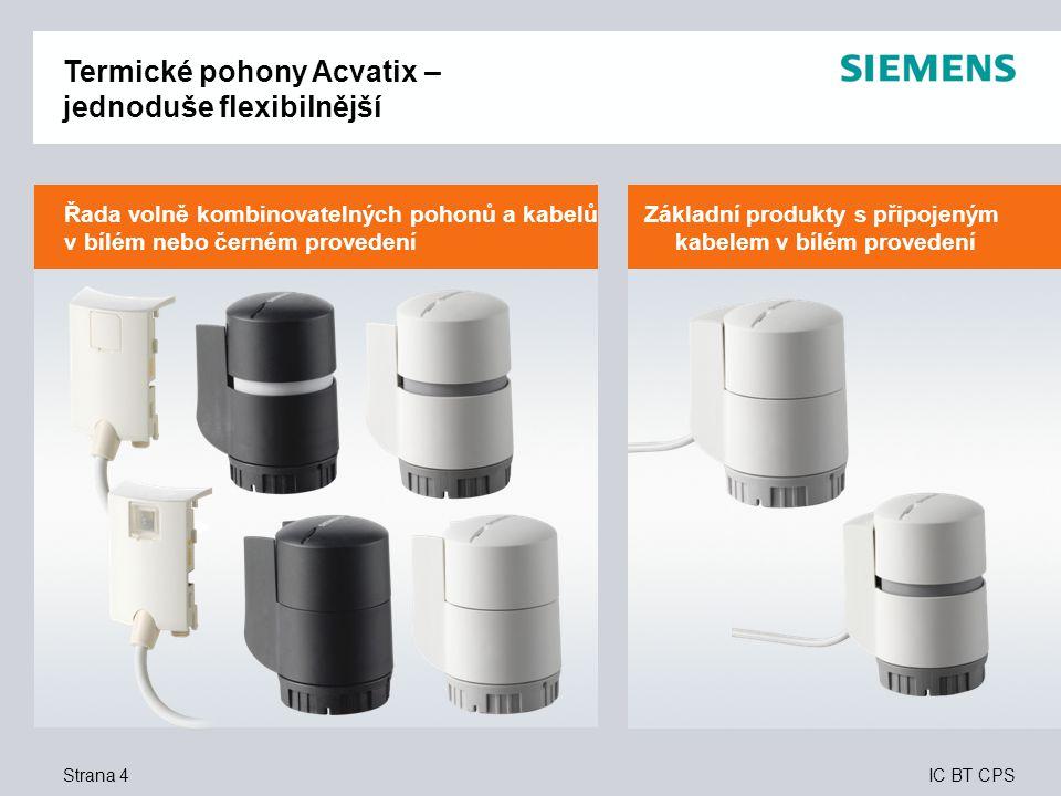 Termické pohony Acvatix – jednoduše flexibilnější
