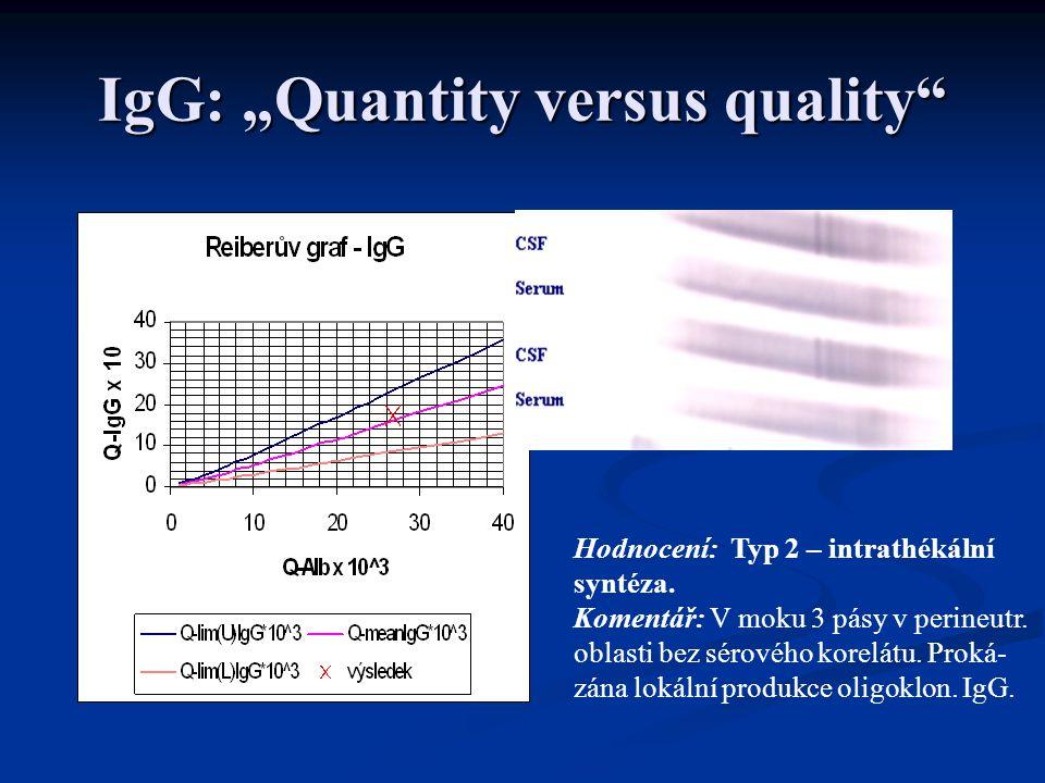"IgG: ""Quantity versus quality"