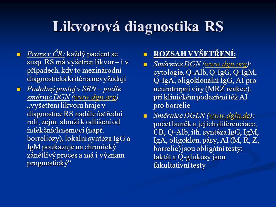 Likvorová diagnostika RS