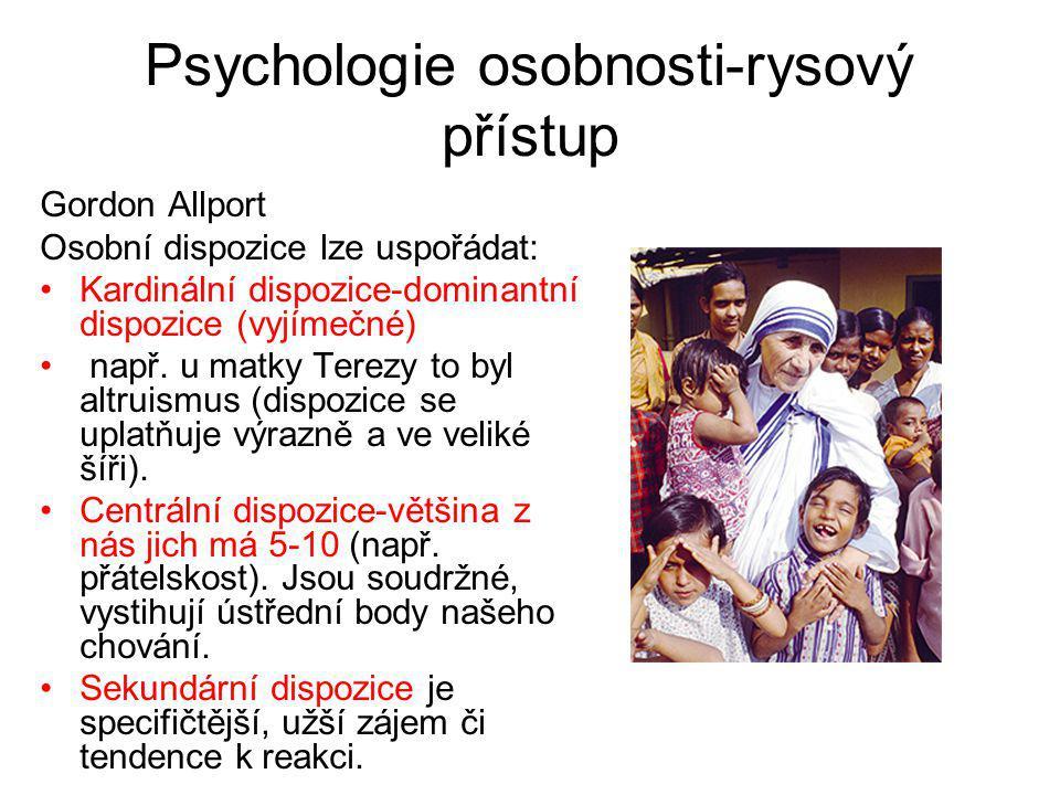 Psychologie osobnosti-rysový přístup