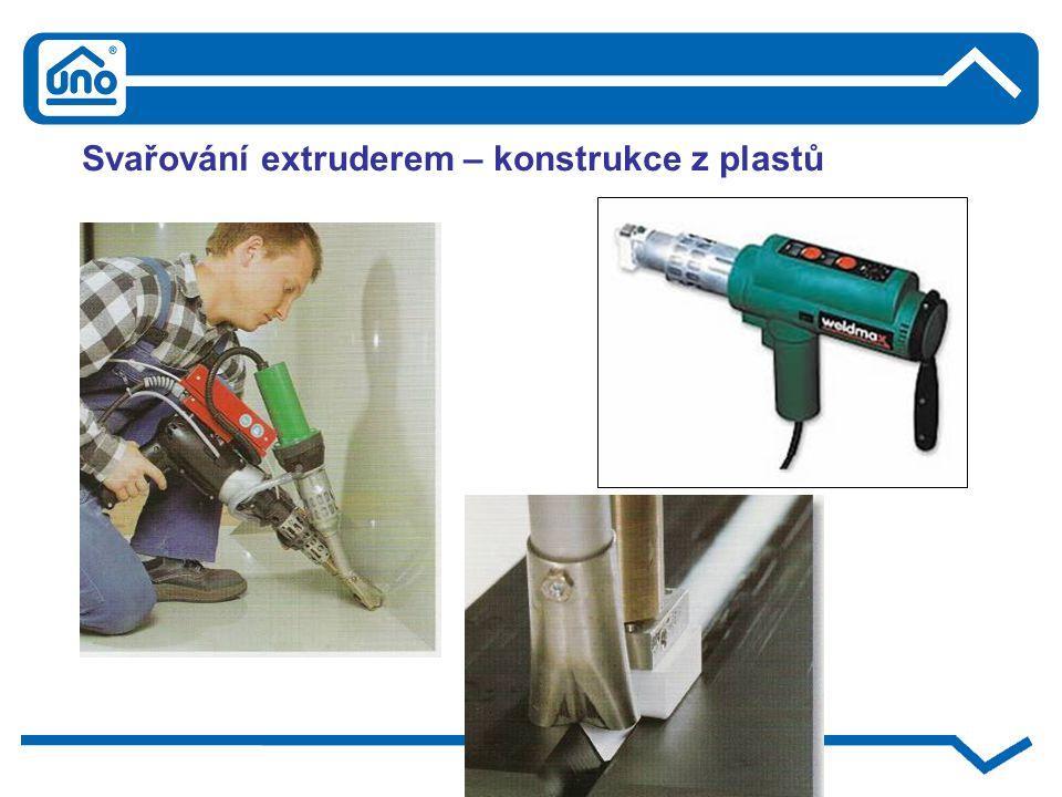 Svařování extruderem – konstrukce z plastů