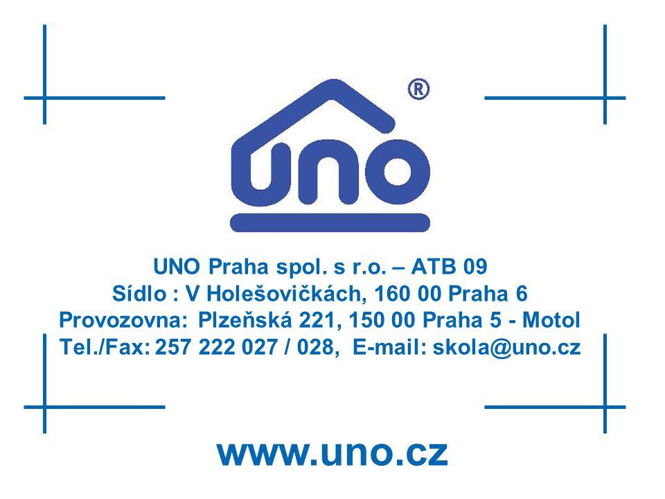 www.uno.cz UNO Praha spol. s r.o. – ATB 09