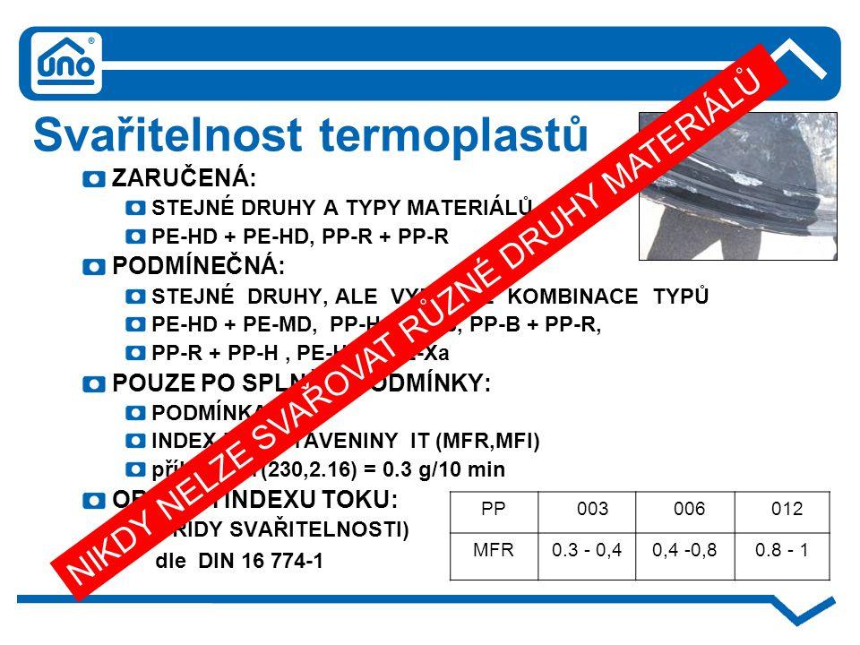 Svařitelnost termoplastů