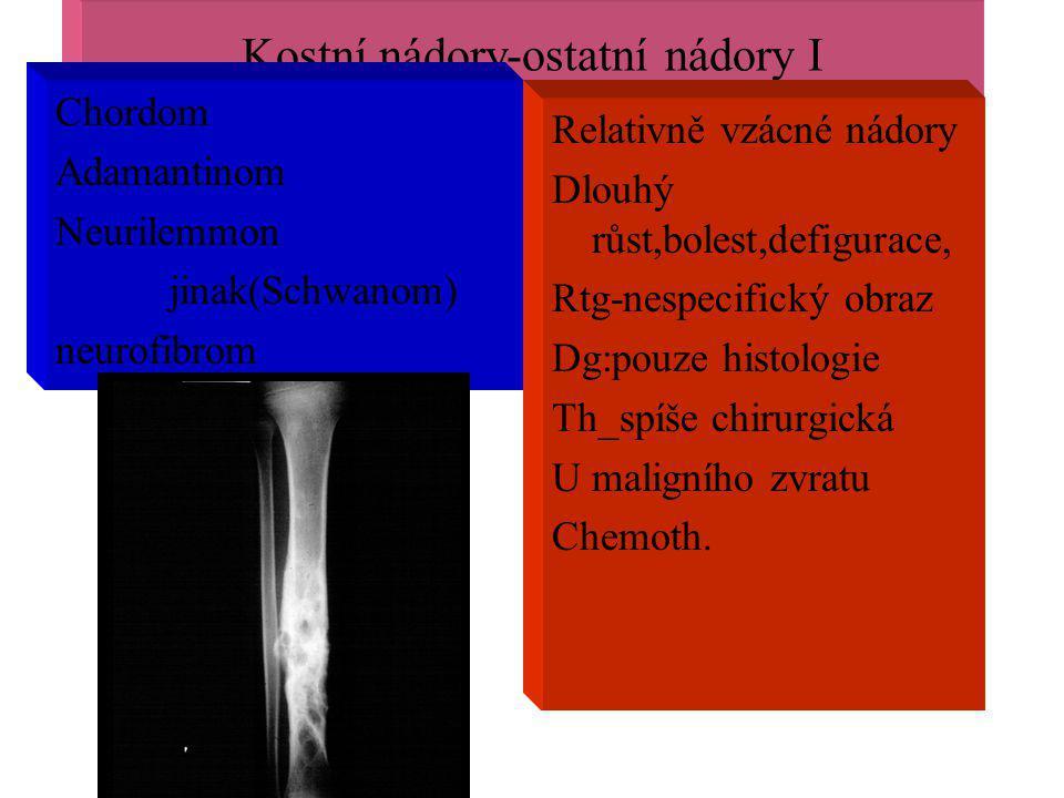 Kostní nádory-ostatní nádory I