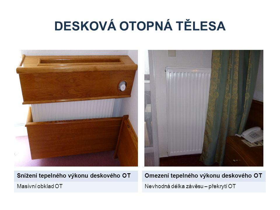 Desková otopná tělesa Snížení tepelného výkonu deskového OT