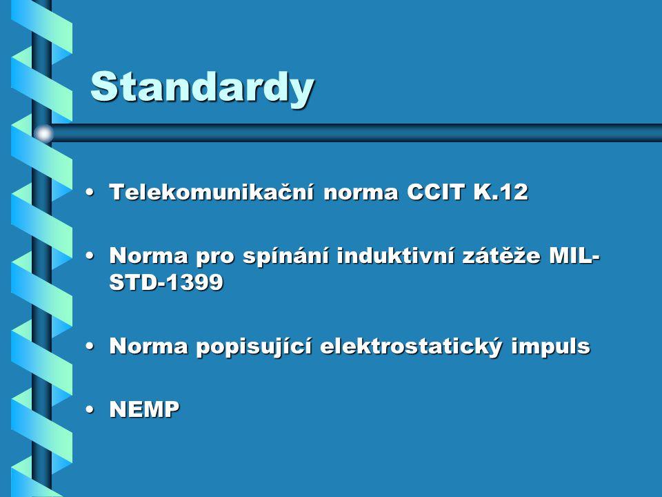Standardy Telekomunikační norma CCIT K.12
