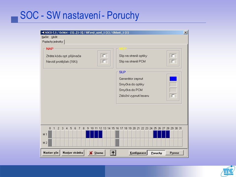SOC - SW nastavení - Poruchy