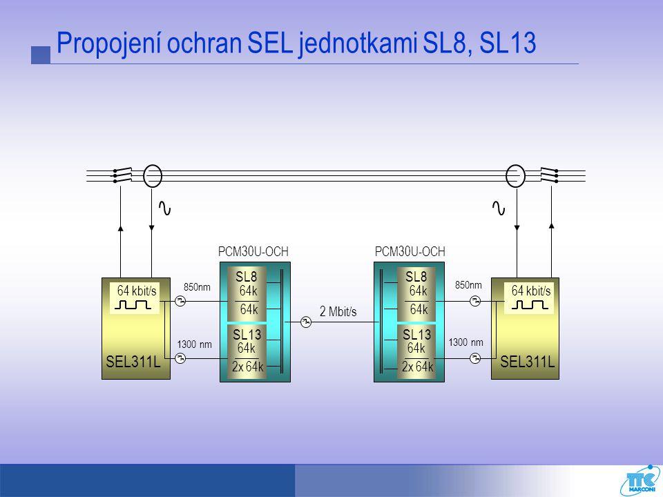 Propojení ochran SEL jednotkami SL8, SL13
