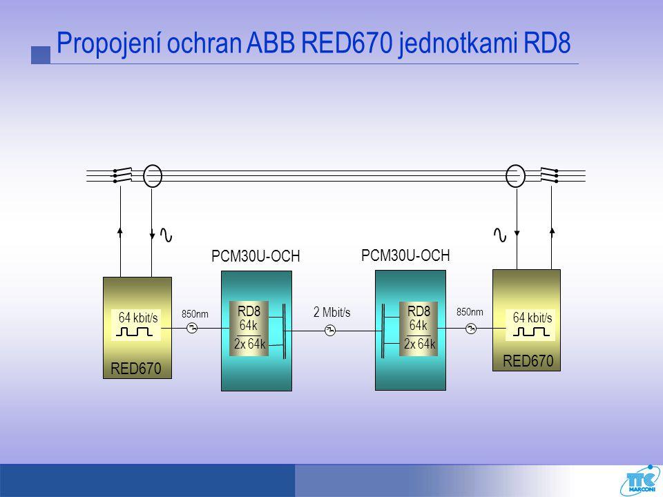 Propojení ochran ABB RED670 jednotkami RD8
