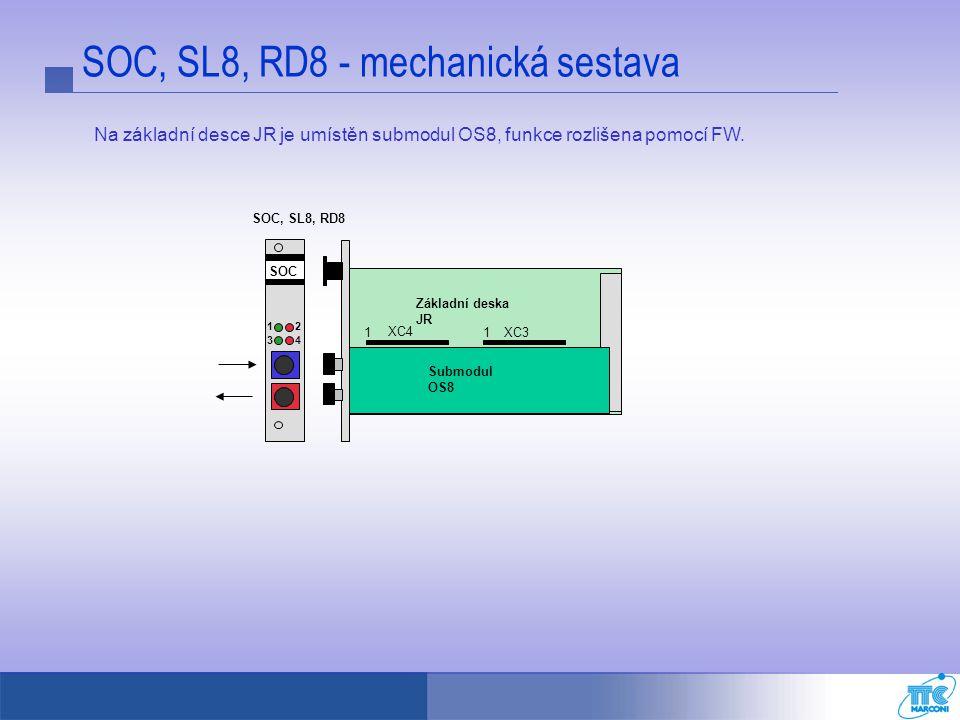 SOC, SL8, RD8 - mechanická sestava