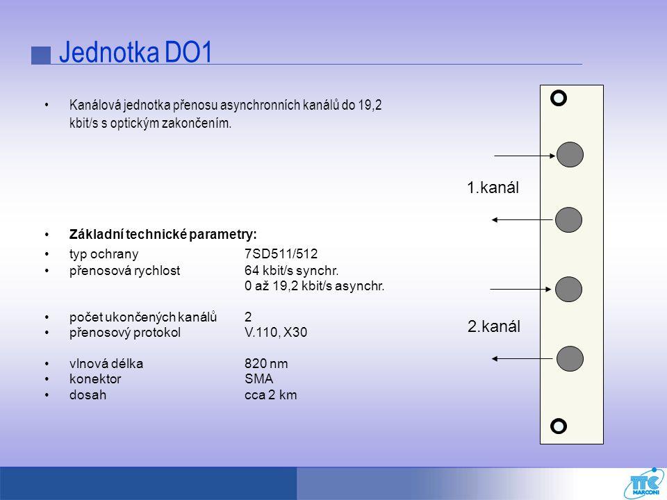 Jednotka DO1 1.kanál 2.kanál