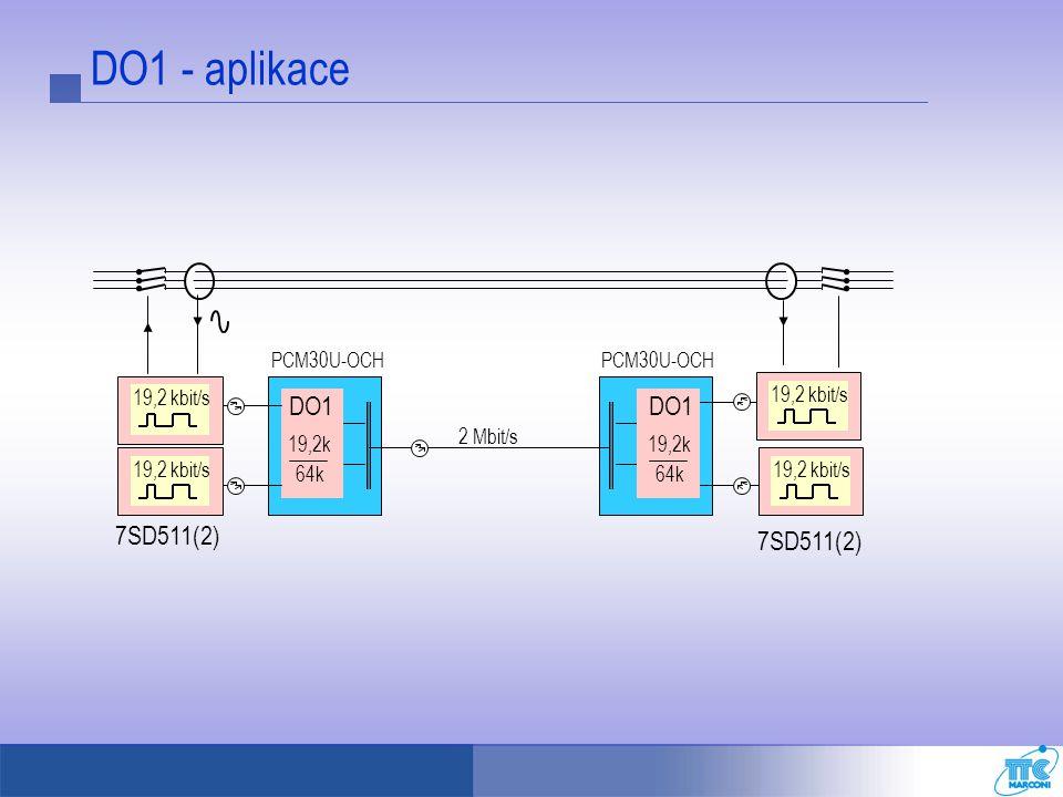 DO1 - aplikace PCM30U-OCH 19,2 kbit/s 19,2k 64k 2 Mbit/s DO1 7SD511(2)