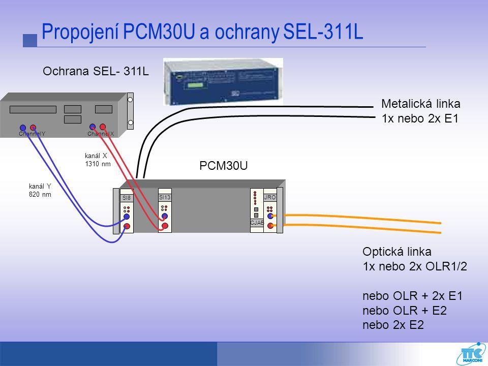 Propojení PCM30U a ochrany SEL-311L