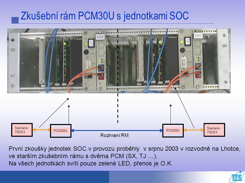 Zkušební rám PCM30U s jednotkami SOC