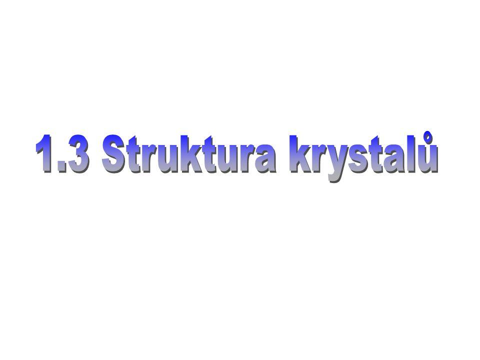 1.3 Struktura krystalů