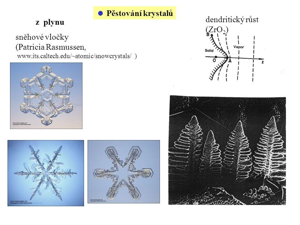 dendritický růst (ZrO2) z plynu