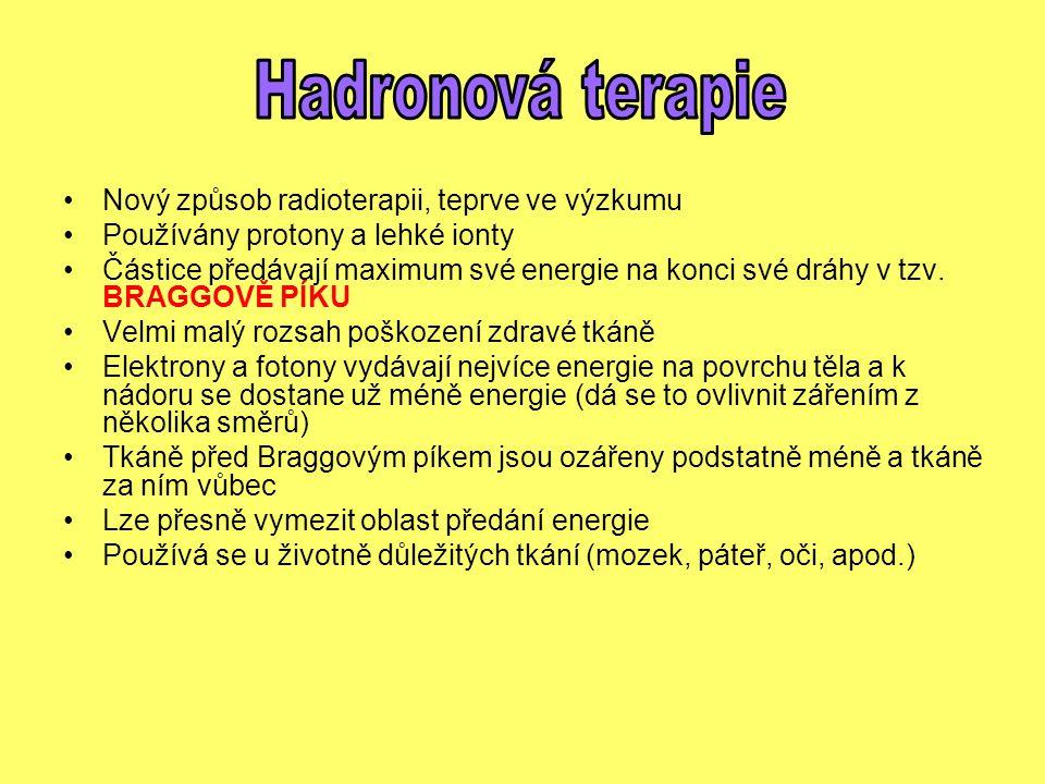 Hadronová terapie Nový způsob radioterapii, teprve ve výzkumu