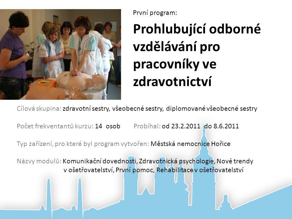 Prohlubující odborné vzdělávání pro pracovníky ve zdravotnictví