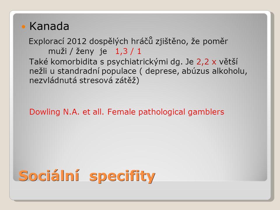 Sociální specifity Kanada