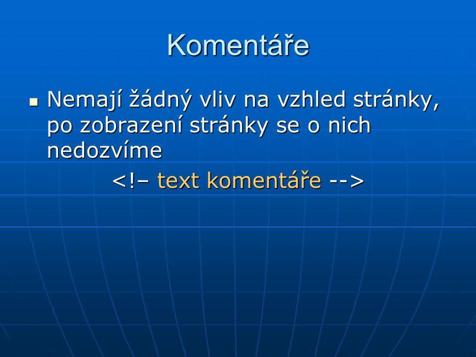 <!– text komentáře -->