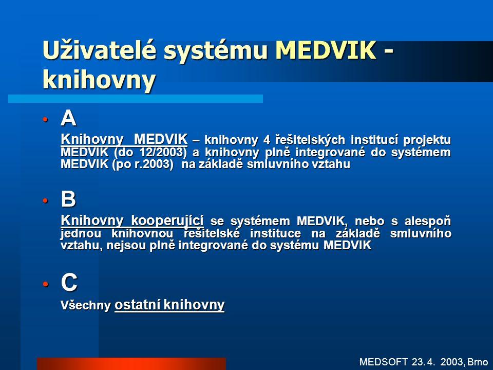 Uživatelé systému MEDVIK - knihovny