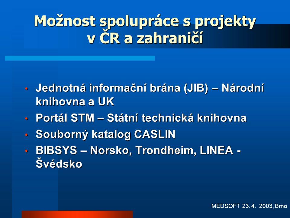 Možnost spolupráce s projekty v ČR a zahraničí