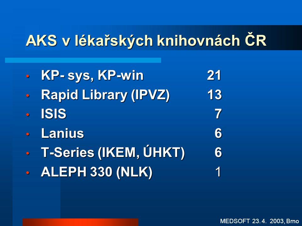 AKS v lékařských knihovnách ČR
