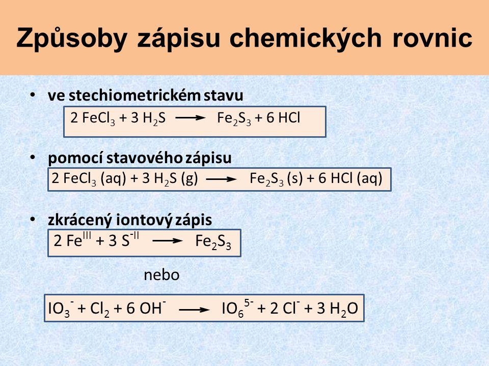 Způsoby zápisu chemických rovnic
