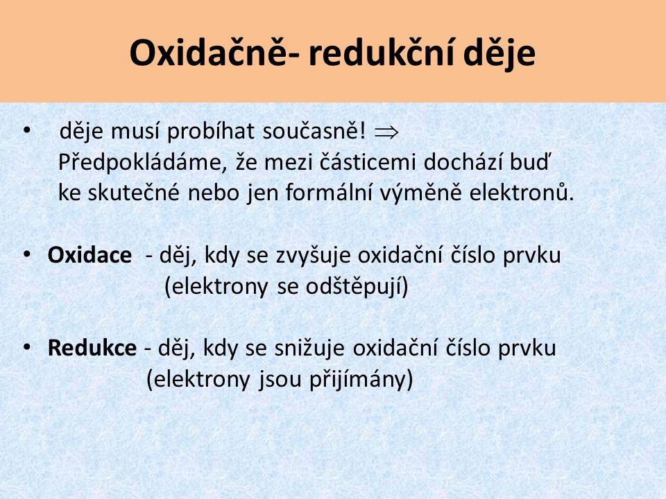 Oxidačně- redukční děje